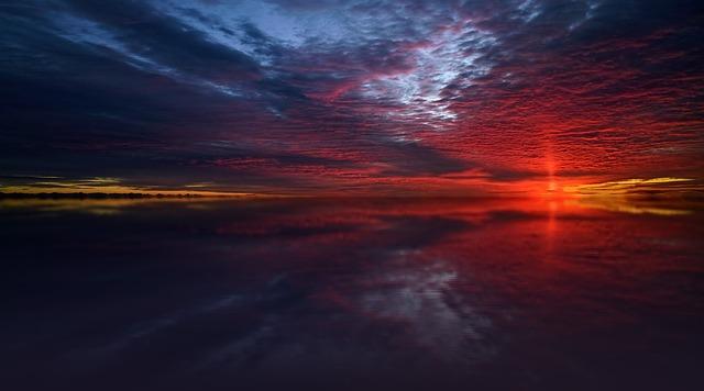 Sunset, Nature, Dusk, Dawn, Panorama, Dark, Twilight