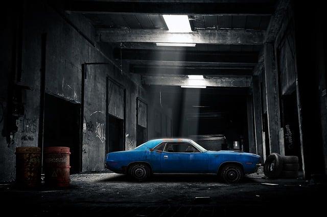 Car, Garage, Old, Dark, Automobile, Vehicle, Auto