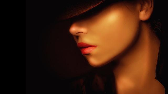 Portrait, Woman, Dark, Fashion