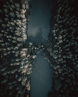 Nature, Outdoors, Body Of Water, Tree, Darkness