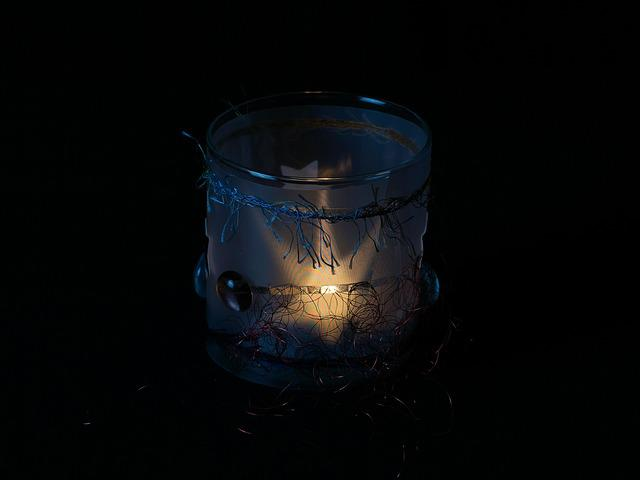 Tealight, Candle, Darkness, Glass, Windlight, Deco
