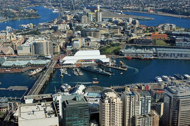 Sydney, Darling Harbour, Port, From Above, Outlook