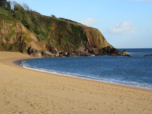 England, United Kingdom, Dartmouth, Blackpool Hill, Sea
