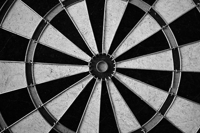 Black And White, Darts, Dartboard