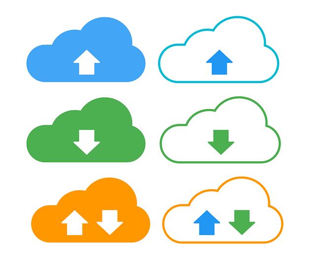 Download, Upload, Cloud, Internet, Data, Network