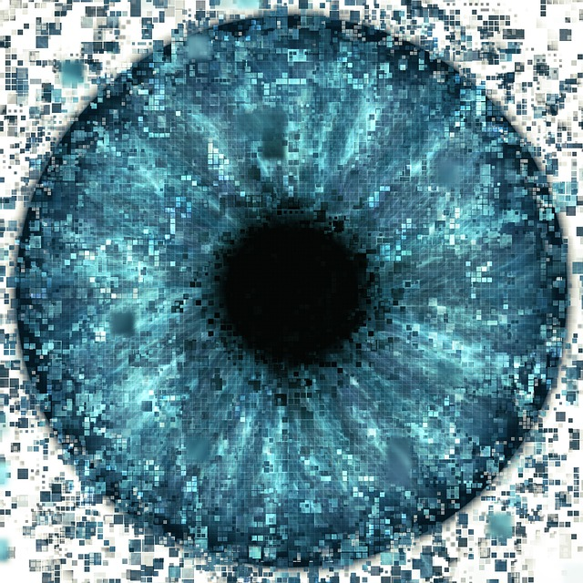 Eye, Pixelated, Data