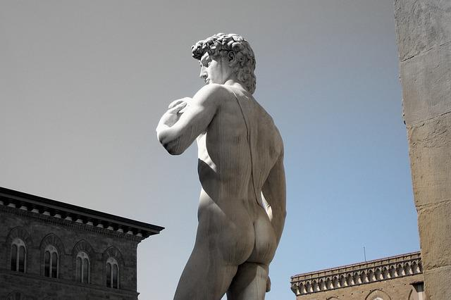 Florence, David, Michelangelo, Statue, Monument
