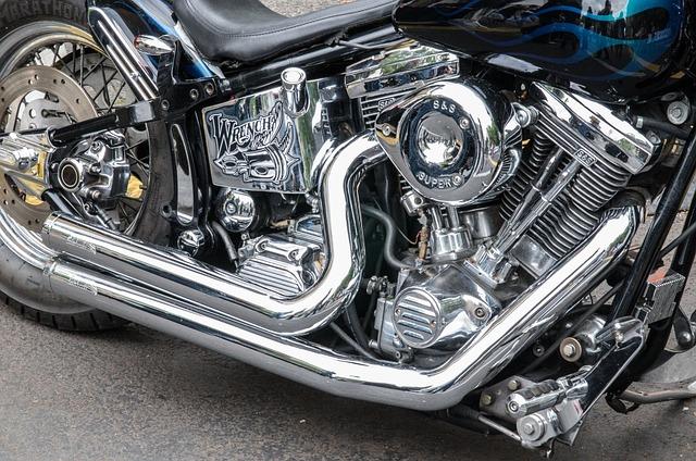Motorcycle, Harley, Davidson, Drive, Auto, Chrome