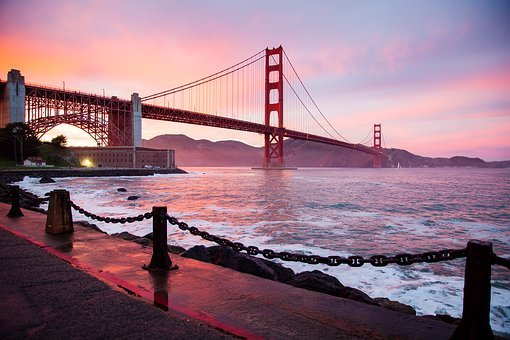 Architecture, Bay, Bridge, Buildings, City, Dawn, Dusk