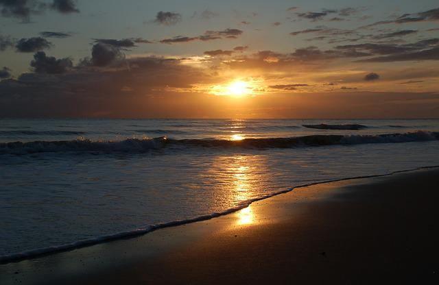 Sunset, Sun, Dawn, Body Of Water, Nature, Zealand