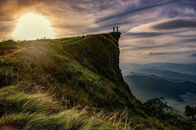 Cliff, Adventure, Above, Hiking, Chiang Rai, Dawn