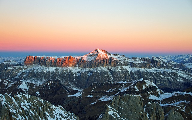 Dawn, Dolomites, Massif Of The Saddle