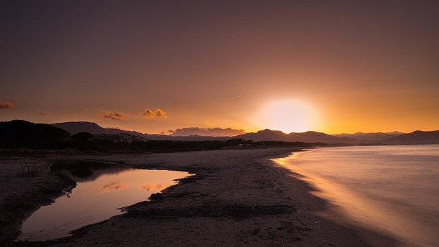 Sunset, Waters, Dawn, Dusk, Nature, Corsica, Sardinia