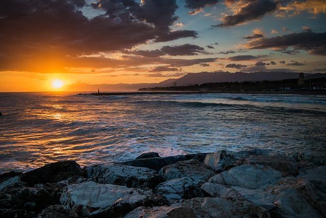 Dawn, Sea, Horizon, Awakening, Beach, Calm, Clouds, Sky