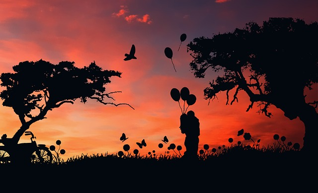 Silhouette, Sunset, Dawn, Tree, Dusk