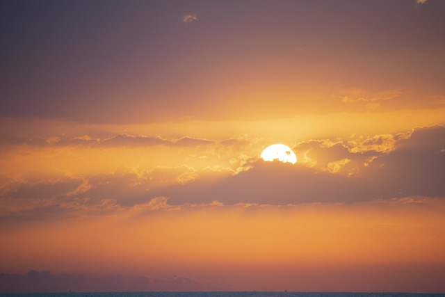 Sky, Dawn, Landscape, Beach, Sun, Clouds