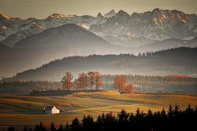 Panorama, Mountain, Sunset, Landscape, Dawn, Alpine