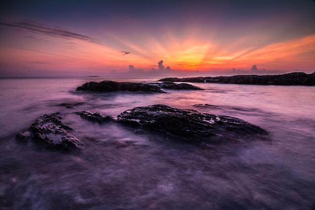 Sunset, Dusk, Water, Dawn, Seascape, Evening, Ocean