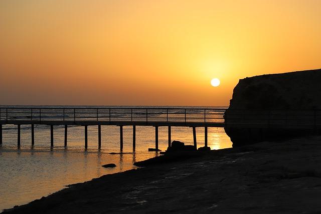 Dawn, Sea, Waters, Egypt, Beach, Panorama, Sun, Sunrise