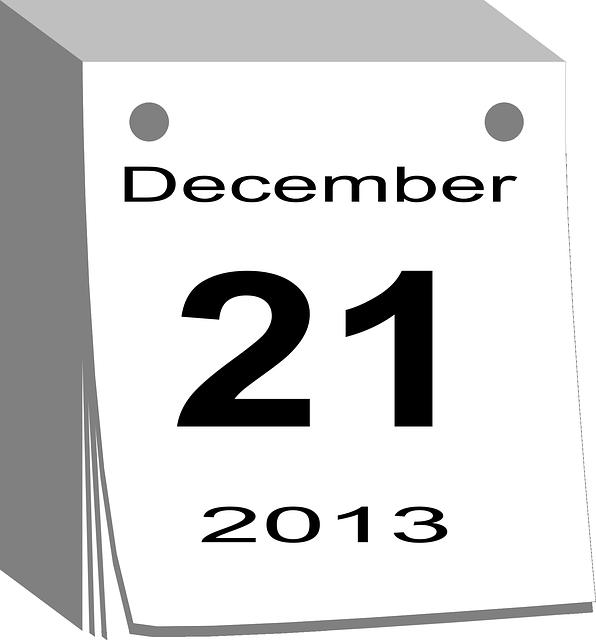 December 21, 2013, Calendar, Date, Day, Christmas
