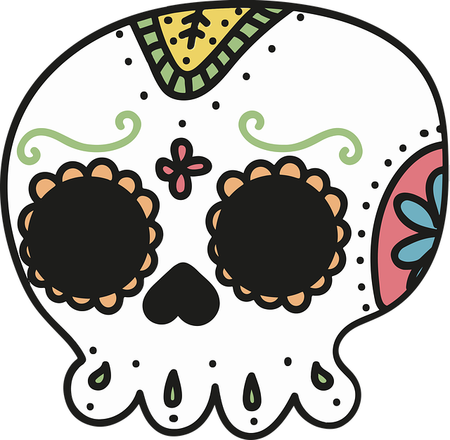 Day Of The Dead, Mexico, Skull, Skeleton, Drawing