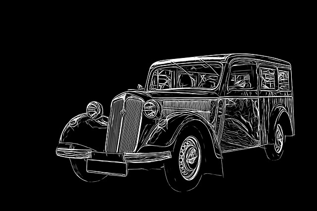 Graphic, Light Painting, Auto, Oldtimer, Ddr, Ifa