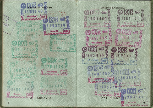 Passport, Transit, Visa, Ddr, Federal Republic Of