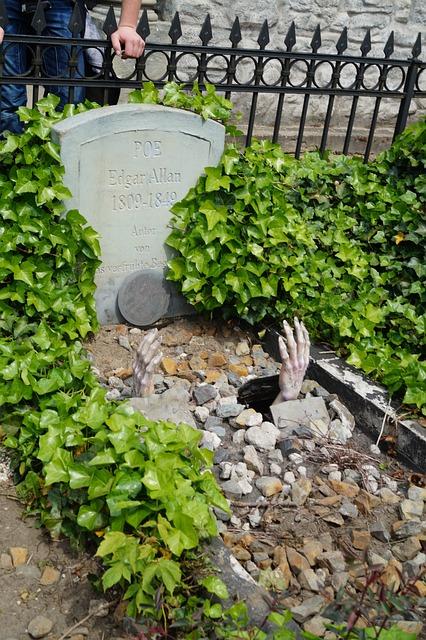 Edgar Allan Poe, Grave, Hand, Tomb, Dead, Writer