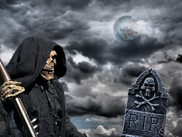 Death, Grim Reaper, Cemetery, Mystical, Old Cemetery