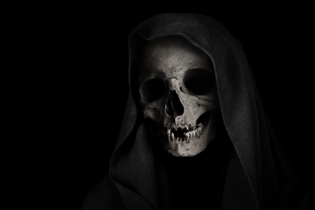 Grim Reaper, Skull, Death, Skeleton, Face, Background