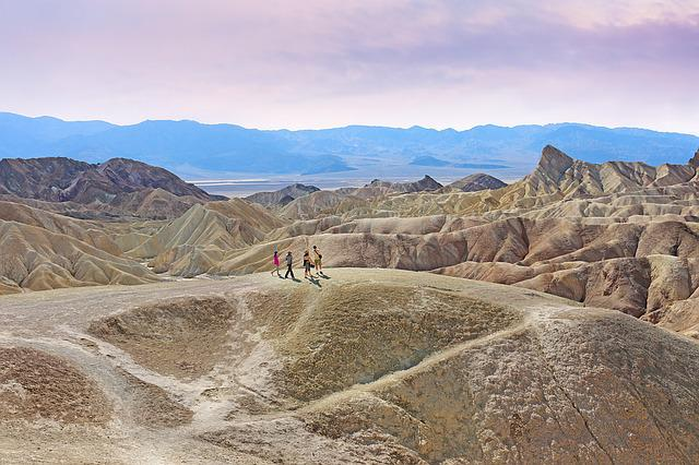 Death Valley, Zabriskie Point, Desert, California