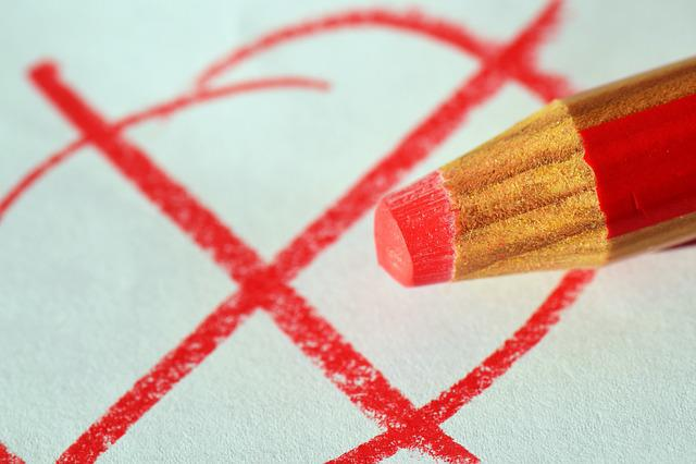 Pen, Red Pen, Ankreuzen, Choice, Elections, Decide, Red