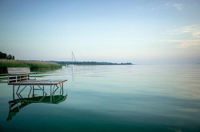 Lake, Serenity, Water, Calm, Lake Balaton, Deck