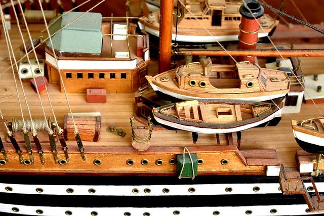 Detail, Life Boats, Deck, Model, Ship, Ship Model