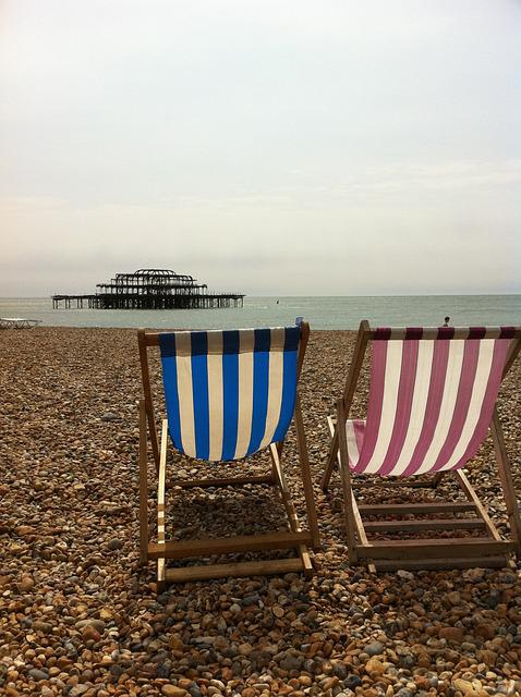 Deckchair, Beach, Relax, Brighton, Pier, Pebbles, Sea