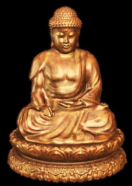 Buddha, Figure, Bronze, Sitting, Bronze Statue, Deco