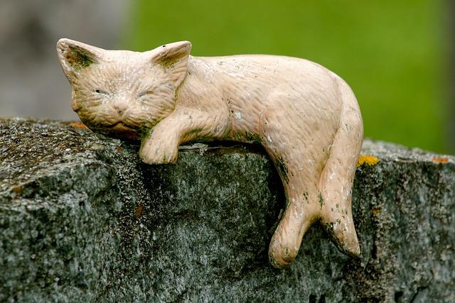 Cat, Decoration, Statue, Sculpture, Art, Deco, Mourning