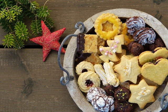 Christmas Cookies, Cookies, Star, Deco, Wood