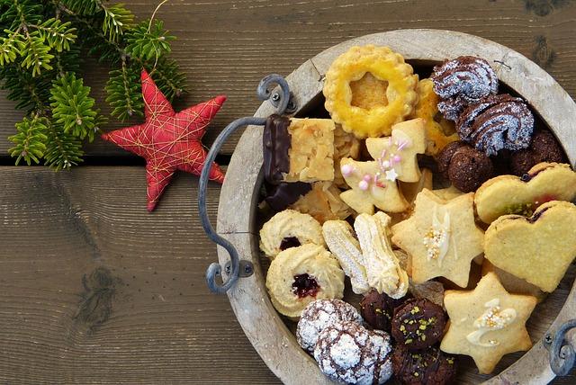 Christmas Cookies, Cookies, Star, Deco, Wood