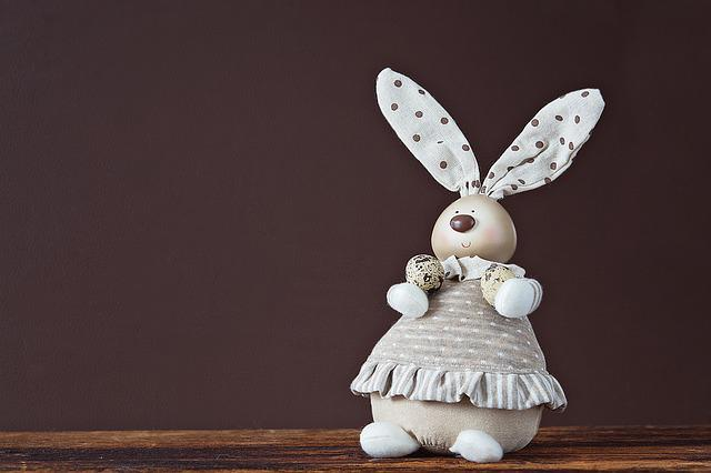Deco-hase, Easter Bunny, Quail Eggs, Deco, Decoration