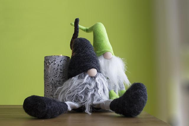 Imp, Dwarf, Fig, Green, Deco, Males, Fabric, Decoration