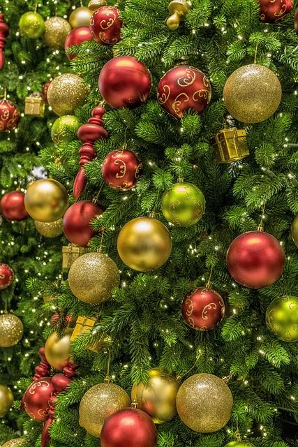 Christmas, Tree, Ornament, Deco, Light, Decoration