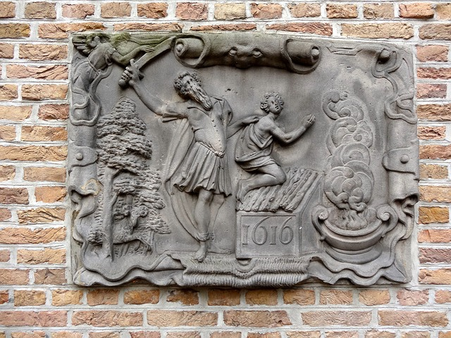 Abrahams Offer, Gouda, Relief, Sculpture, Decor