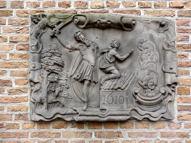 Abrahams Offer, Gouda, Relief, Sculpture, Decor
