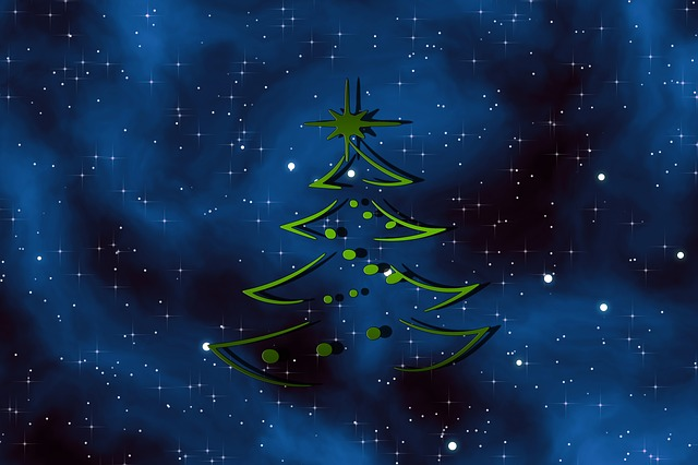 Christmas, Christmas Tree, Abstract, Decorated