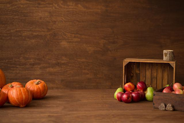 Autumn, Pumpkin, Halloween, Orange, Decoration, Apple
