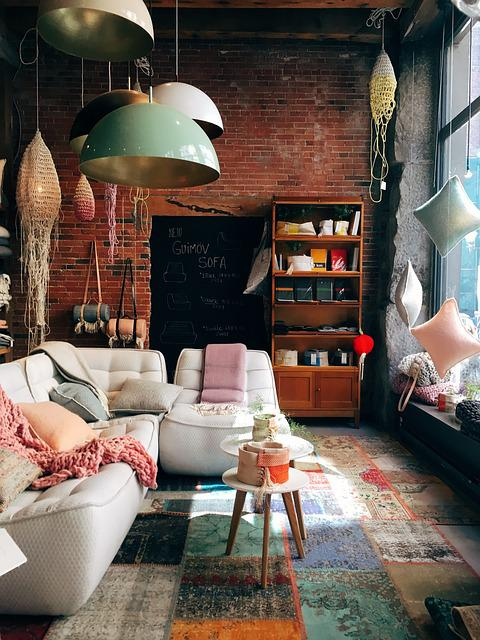 Brick Wall, Cabinet, Chair, Decoration, Design