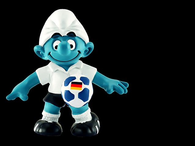 Smurf, Toys, Figure, Decoration, Deco, Football