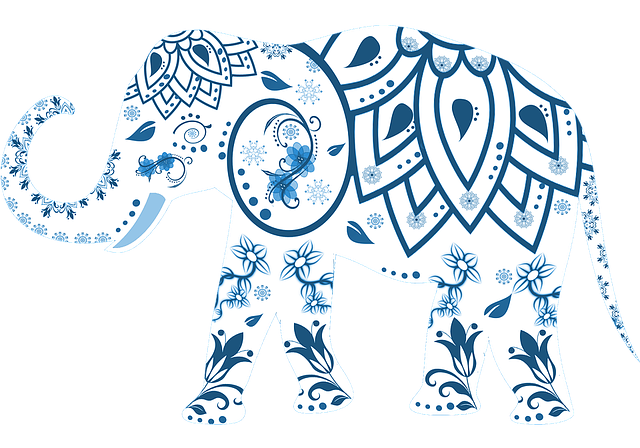 Elephant, Decorated, Animal, India, Mammal, Decoration