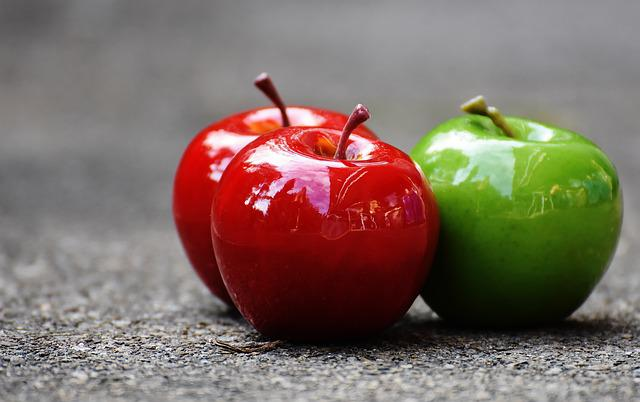 Apple, Red, Green, Fruit, Deco, Decoration, Red Apple